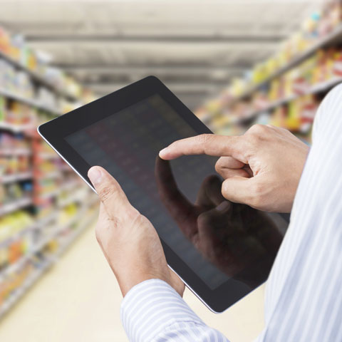 Consumer shopping with tablet